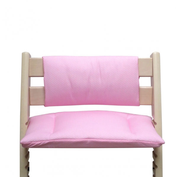 Tripp Trapp Cushion Set Junior pink with little dots
