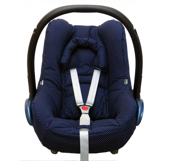 Maxi Cosi Cabriofix Cover in blue with dots