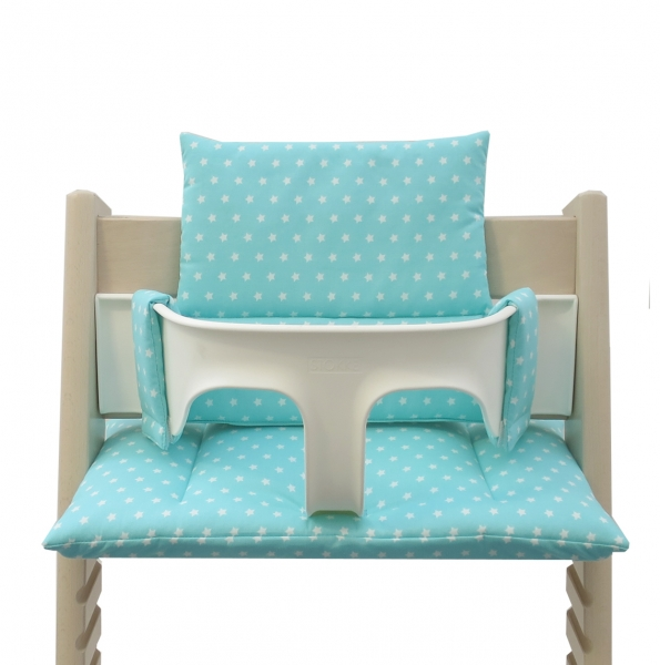 Stokke Tripp Trapp High Chair Cusion turquoise with stars