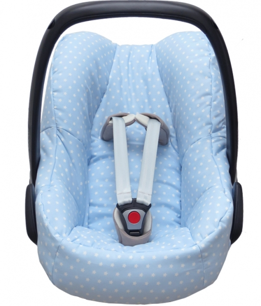 Maxi Cosi Pebble cover in light blue with stars