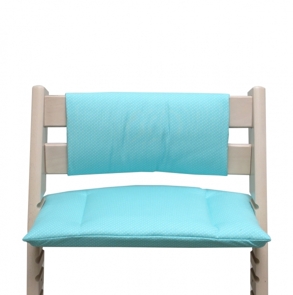 Tripp Trapp Cushion Set Junior turquoise with little dots