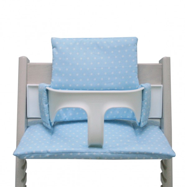 Seat cushion for Tripp Trapp High Chair in lightblue with Stars