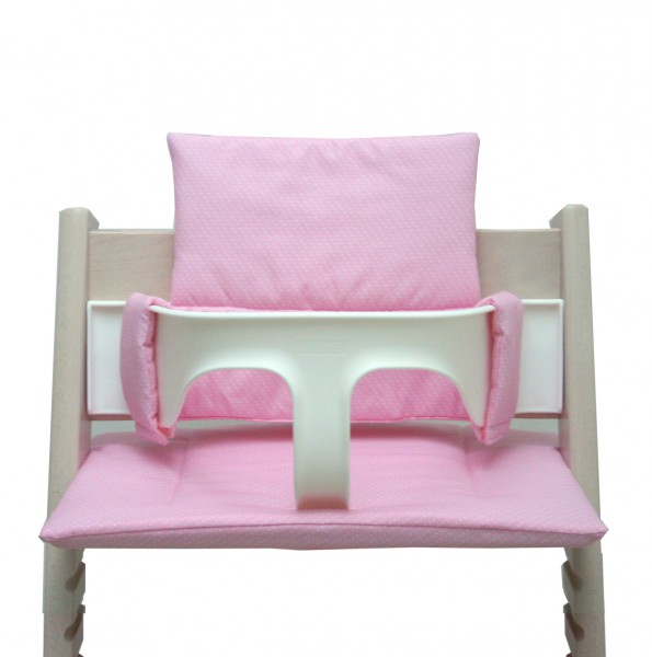 Tripp Trapp cushion set pink with dots