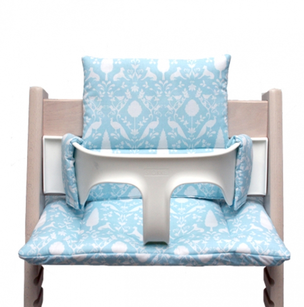 Tripp Trapp cushion in Oxford turquoise