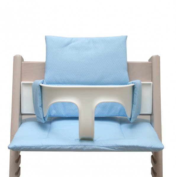 Stokke Tripp Trapp cushion in light blue with Dots