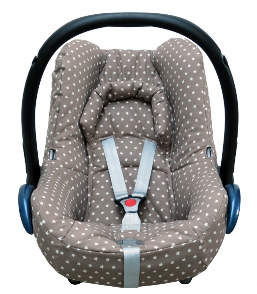 Maxi Cosi Cabriofix Cover in taupe with stars
