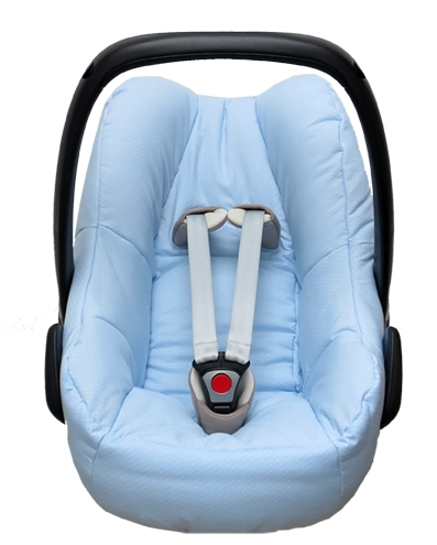 Maxi Cosi Pebble cover in light blue with dots