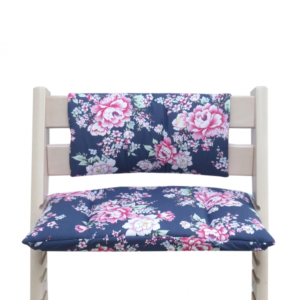 Stokke Tripp Trapp Sitzkissen Junior in Happy Flower blau