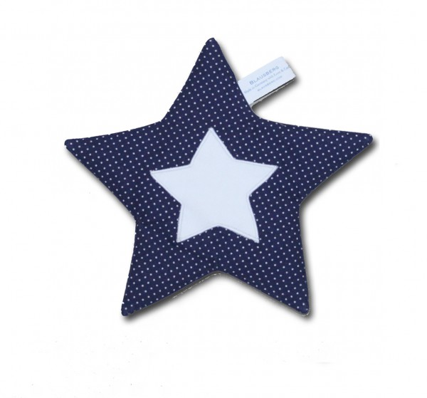 Crinkle Star in blue with Dots
