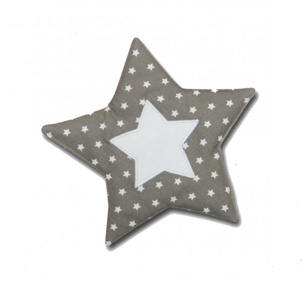 Crinkle Star in taupe with Stars