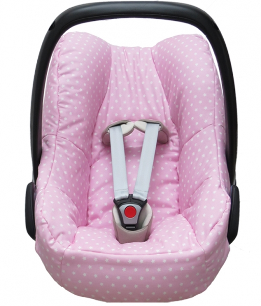 Maxi Cosi Pebble cover in pink with stars
