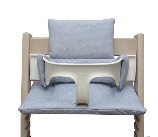 Tripp Trapp High Chair grey with little dots