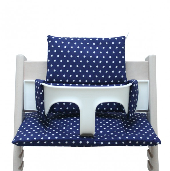 Stokke Tripp Trapp high chair cushion in blue with stars